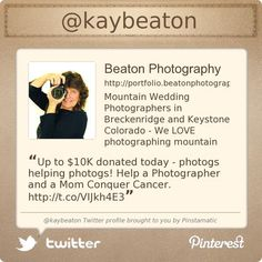 Summit County Mom, Kay Beaton is on Twitter @kaybeaton's Twitter profile courtesy of @Pinstamatic (http://pinstamatic.com)