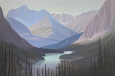 Ken Harrison - Bow Valley View from Banff Springs 40 x 60 Oil on canvas (2021)