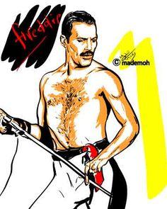 Freddie Mercury art