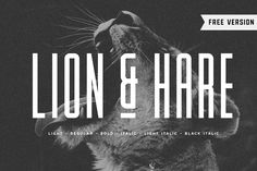 Lion & Hare is an ultra compressed, tall font family that portrays strength and power. The characters maintain fairly square edges to give a more consistent Cool Fonts, New Fonts, Tall Font, Design Fonte, Design Design, Actions Photoshop, Condensed Font, Block Fonts, Bold Italic