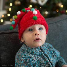 DIY Elf and Santa Hats