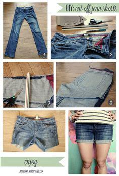 DIY: Cut Off Jean Shorts