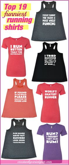 The best running shirts for people that like funny shirts, from Constantly Varied Gear