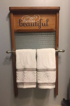 old glass washboard vinyl for the words had to cut down a expandable rod to fit. Laundry Room Decor, Decor, Primitive Bathrooms, Primitive Decorating, Washboard, Glass Washboard, Repurposed Furniture, Washboard Decor, Old Washboards