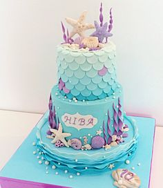 Gianna bd mermaid cake