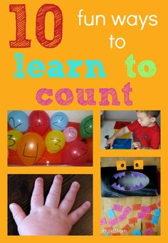Everyone needs to learn to count, but it's so much more enjoyable if you make your child's learning playful. Here are ten ways to make learning how to count lots of fun.