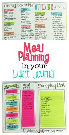 Come see how I use my Bullet Journal to make meal planning even easier! I'm also sharing my other favorite free meal planning tool and app! via /kimberlyjob/ # Fitness journal How I use my Bullet Journal for Meal Planning - Sublime Reflection Bullet Journal Agenda, How To Bullet Journal, Bullet Journal Tracker, Bullet Journal Inspo, Bullet Journals, How To Organise Bullet Journal, Bullet Journal Grocery List, Bullet Journal Project Planning, Bullet Journal Cleaning Schedule