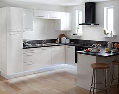 Impressive Modern Kitchen With Black Appliances Kitchen Cabinet Kitchen  Design White Cabinets Black Appliances