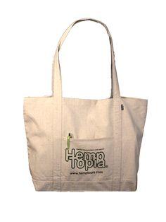 Reusable Hemp Bag - The Grocer w/ Hemptopia Logo | Hemptopia