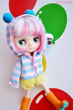 Takara-8-Middie-Blythe-Doll-Yellow-Marshmallow