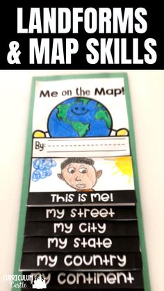 Me on the Map and Landforms Flip Book Me on the Map and Landforms Flip Book,Geography Landforms and Map Skills activities: Me on the Map and All About Landforms Flip books! Life Skills Activities, Map Activities, History Activities, Montessori Activities, Teaching History, Kindergarten Activities, Preschool Activities, Preschool Life Skills, Social Studies Worksheets