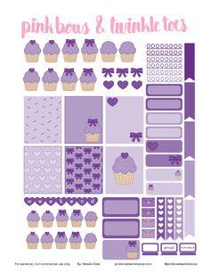 FREE Cupcake Cutie Planner Stickers: Free Printable