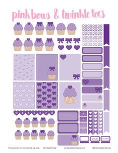 FREE Cupcake Cutie Planner Stickers: Free Printable