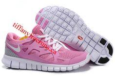 Womens Nike Free Run 2 Pink White Shoes