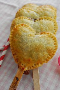 Strawberry Nutella Heart Pie Pops