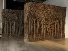 Sculptor Eva Jospin constantly reinvents the idea of what a forest is over and over again. She cuts, layers, arranges, glues and builds cardboard into different interpretations of The Woods. Her pieces range from smaller 2D pictures compiled from dense sticks, branches and flaky bits