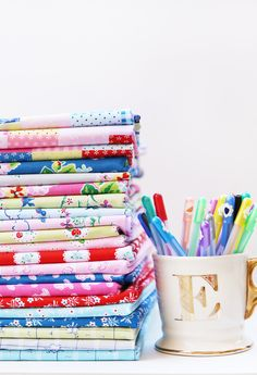 Strawberry Biscuit fabric by Elea Lutz | playful, colorful prints + papers @pennyrosefabrics