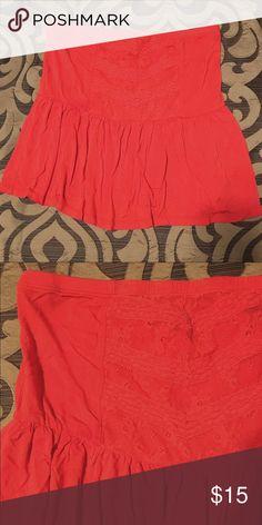 BKE | crop top • small • orange  • flowy crop top with lace • worn once BKE Tops Crop Tops
