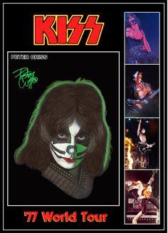 KISS Peter Criss '77 Love Gun Tour Stand-Up Display