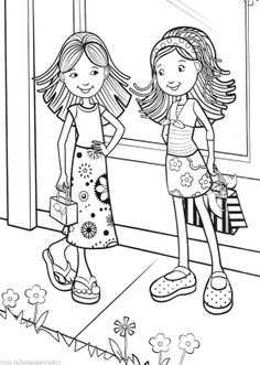 Groovy Girls Meet With Friends Coloring Pages - Groovy Girls Coloring Pages : KidsDrawing – Free Coloring Pages Online