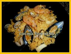 COCINA CON XENA: Arroz de marisco en Olla Gm d Pasta, Instant Pot, Cauliflower, Meat, Chicken, Vegetables, Food, Recipes, Seafood Paella