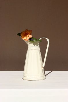 Exceptional. Refined French Enamel Watering Can. от SooooFrenchy