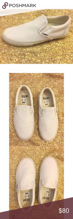 VANS x Opening Ceremony Lux Leather Slip Ons sz 6 Vans x Opening Ceremony Limited Edition Classic Slip On's. All lux leather. All white. Size 4.5 Men/Size 6 in Women. Rare. Worn once for photo shoot, no wear on soles as shown. NWOT. Vans Shoes Sneakers