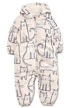 Buy Ecru Cat Print Snowsuit (3mths-6yrs) online today at Next: United States of…