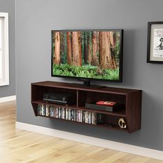 Wall mount tv shelf, entertainment shelves и floating shelves entertainment center. Floating Shelves Entertainment Center, Entertainment Center Kitchen, Entertainment Center Decor, Entertainment Weekly, Tv Console Cabinet, Wall Mounted Media Console, Media Shelf, Mounted Shelves, Media Storage