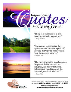 Inspirational Quotes for Caregivers  #quotes #caregiving - we think you caregivers are great! mycnajobs.com