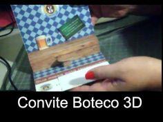 DIY - Convite Boteco 3D