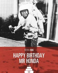 "mcsgsym: "" If you hire only those people you understand, the company will never get people better than you are. Always remember that you often find outstanding people among those you don't particularly like. Honda Grom, Honda Cub, Boss Birthday, Happy Birthday, Soichiro Honda, Honda Type R, Best Motorbike, Honda Civic Si, Fast Times"