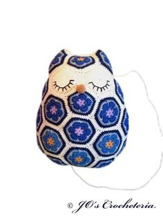 (4) Name: 'Crocheting : Crochet pattern - Maggie the Owl Pillow