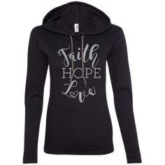 """""""Faith, Hope, Love""""-Gray Font"""