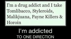 Hi, my name is Grace, and I'm addicted to One Direction...
