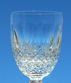 Set of 6 Waterford Crystal Colleen Short Stem White Wine Goblets 9 Ounce Glasses #Waterford