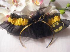 Handmade Batman Fabric Bridal Garter Prom Also in Plus