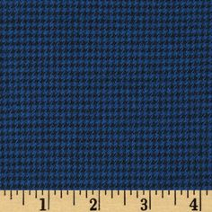 Kaufman Shetland Flannel Houndstooth Navy from @fabricdotcom  Designed for Robert Kaufman Fabrics, this soft double napped (brushed on both sides) medium weight (6.5 oz per square yard) flannel is perfect for shirts, loungewear, and more! The flannel has a houndstooth weave of black and blue.