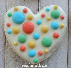 Galleta corazón colores pastel