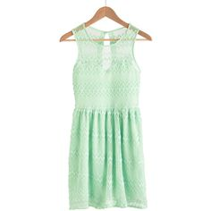 It's Only Mint Believe Dress ($50) ❤ liked on Polyvore
