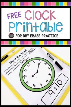 There are so many options out there for teaching 2nd grade math using hands-on manipulatives. It's easy to feel like you need it all, but if you're like most second grade teachers, you're on a budget. Here's my list of math manipulatives I couldn't live without and some tips for making your own or finding them at affordable prices. Includes a free printable clock for dry erase practice! Teaching Second Grade, Second Grade Teacher, 2nd Grade Classroom, Teaching Time, Third Grade Math, Teaching Math, Maths, Second Grade Freebies, Teaching Ideas
