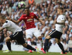 Anthony Martial of Manchester United has a shot on goal during the Premier League match between Mancheser United and Tottenham Hotspur at White Hart...