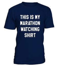 This Is My Marathon Watching T-Shirt Running Spectator Shirt