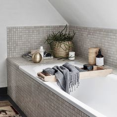 Online shopping from a great selection at Home Store. Cozy Bathroom, Bathroom Styling, Bathroom Interior, Sweet Home, Yellow Bathrooms, Home Spa, Scandinavian Home, Modern Bathroom Design, Beautiful Bathrooms