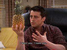 joey and a pineapple