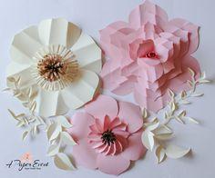 Paper Flower Backdrop Giant Paper Flowers Wedding