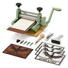 Printing press and tools.