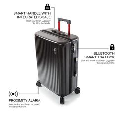 Smart Luggage® 21 Carry-on - Airline Approved – Heys America Online, Ltd America Online, Kids Luggage, Electronic Parts, Carry On, 21st, Travel Things, Bags, Purses, Hand Luggage