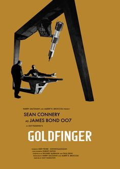 James Bond minimalist movie posters...'Goldfinger'