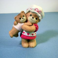 Enesco Lucy and Me Bears - Mother Lifting Baby
